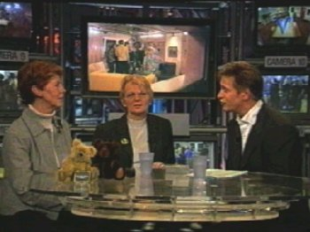 Rolf Wouters with guests in the Big Brother studio